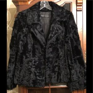 Dana Buchman Black lamb fur coats. Size Small